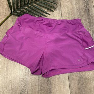 Athleta Purple Ready Set Go Reflector Run Shorts S